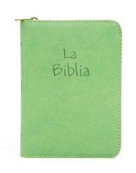 Biblia Traducción en Lenguaje Actual con cierre mediana - verde