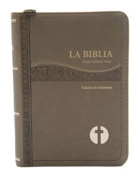 Biblia Dios Habla Hoy con deuterocanónicos con cierre - café