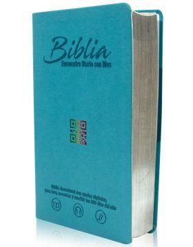 Biblia Encuentro Diario con Dios - aguamarina