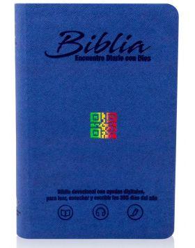 Biblia Encuentro Diario con Dios - azul oscuro