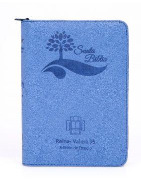 Biblia grande de Estudio Reina Valera 95 - azul