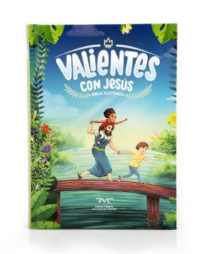 Biblia ilustrada Valientes con Jesús - tapa dura RVC