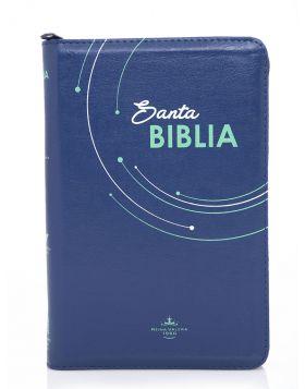 Biblia línea colores grande - azul