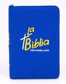 Biblia Dios Habla Hoy - Bordado Azul Rey