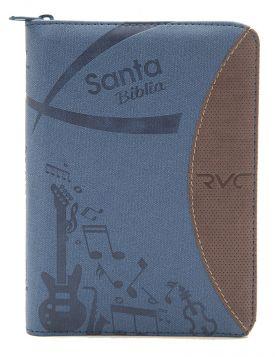 Biblia Reina Valera contemporánea con índice- azul