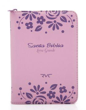 Biblia Reina Valera contemporánea con cierre - rosada