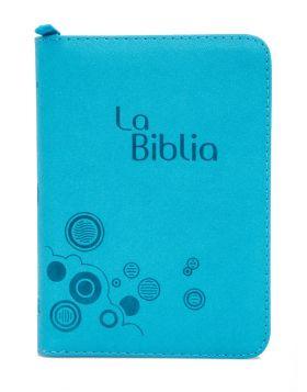 Biblia Traducción en Lenguaje Actual con cierre mediana - aguamarina