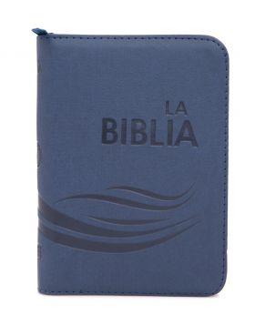 Biblia Traducción en Lenguaje Actual con cierre mediana - azul
