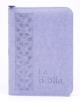 Biblia Traducción en Lenguaje Actual con cierre mediana - lila