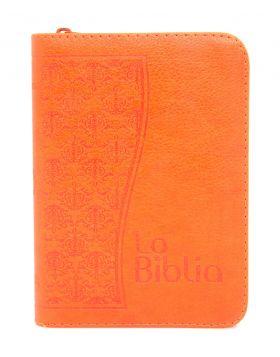 Biblia Traducción en Lenguaje Actual con cierre mediana - naranja