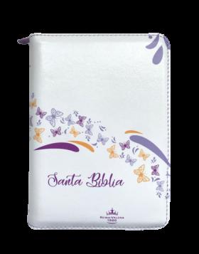 Biblia Color Blanco Mariposas  -  REINA VALERA 1960
