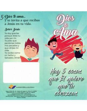 SELECCION NIÑOS DIOS TE AMA Y CUIDA DE TI (Paquete x100 U)