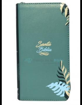 Biblia Reina Valera 1960 - Tipo agenda pequeña - Color Verde - Ayudas Digitales