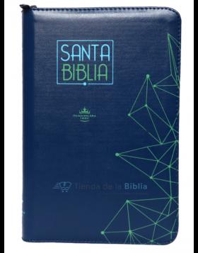 Biblia Reina Valera 1960 - Color Azul - Ayudas Digitales  - Letra Grande