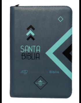 Biblia Reina Valera 1960 - Color Gris - Ayudas Digitales - Letra Grande
