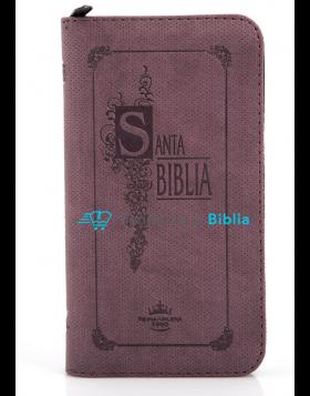 Biblia tipo agenda pequeña - café