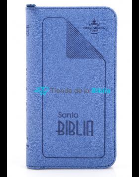 Biblia tipo agenda pequeña - azul