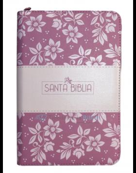 Biblia Reina Valera 1960 - Color Rosado - Con Ayudas Digitales