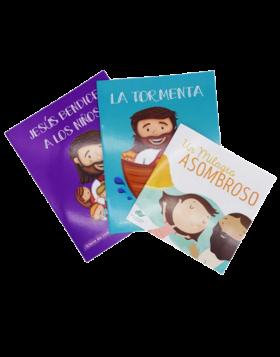 COLECCION  JESUS, LA TORMENTA y MILAGRO ASOMBROSO